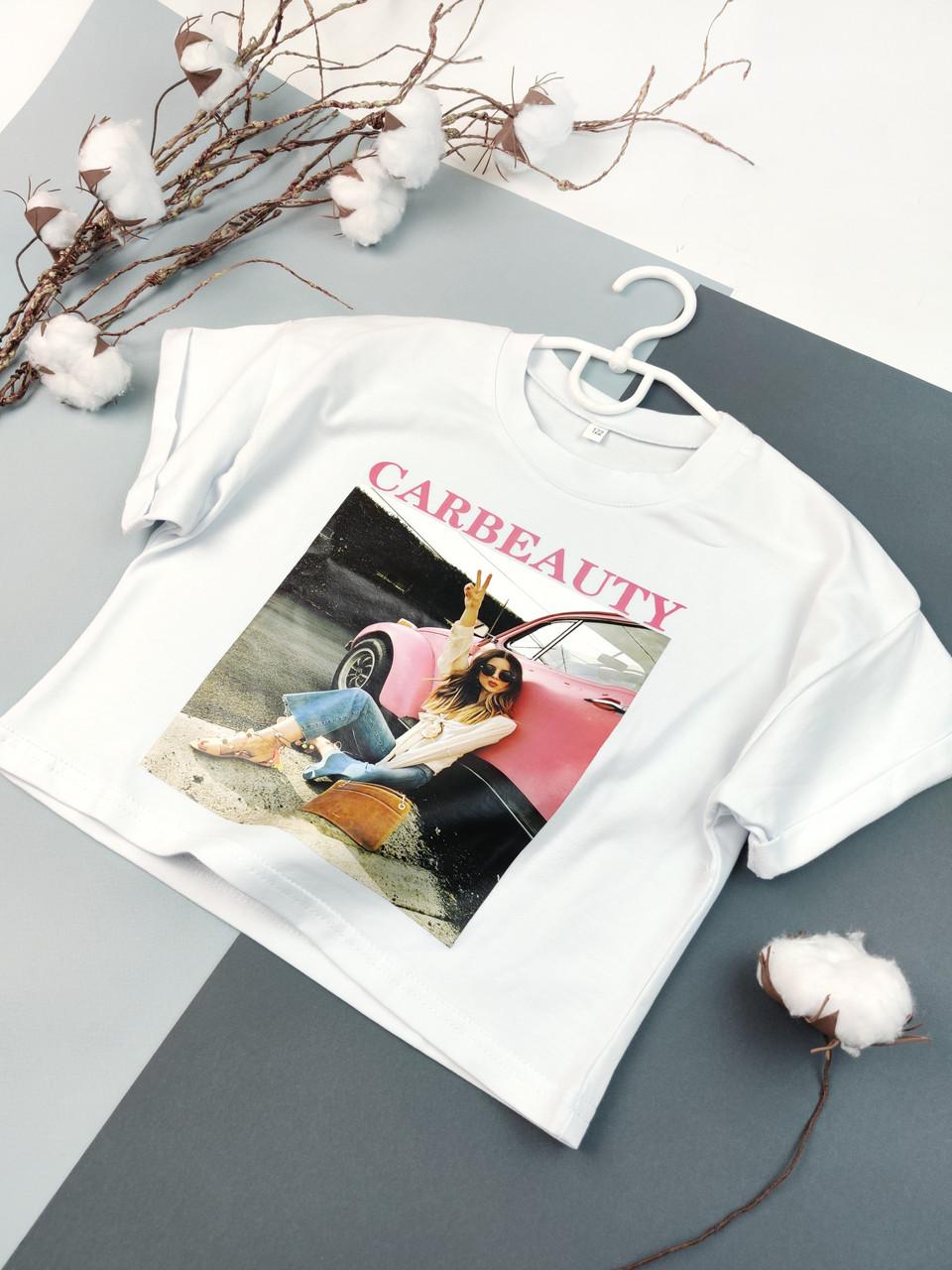Детская футболка для девочки 122, 128, 134, 140, 146