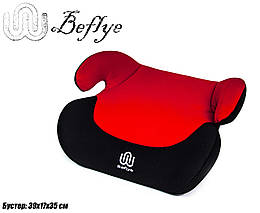 Бустер автомобильный, красный, для детей от 3-х до 12-ти лет (15-36 кг)