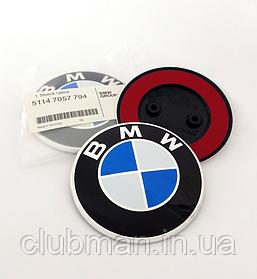 Эмблема  БМВ BMW 82 мм значок бмв F10, F12, F15, F20, F25, F26, F30, F35, F44, F45, F47  Значек капот багажник