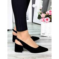 Туфли черная замша Molly 7321-28