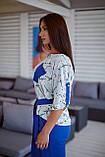 Женский женский летний костюм двойка с брюками и блузой, 3 цвета  р.48-50,52-54,56-58 код 1245Х, фото 2