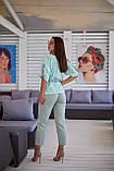 Женский женский летний костюм двойка с брюками и блузой, 3 цвета  р.48-50,52-54,56-58 код 1245Х, фото 7