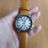 Мужские наручные часы Curren 8379 Silver-White-Brown (+Видеообзор)
