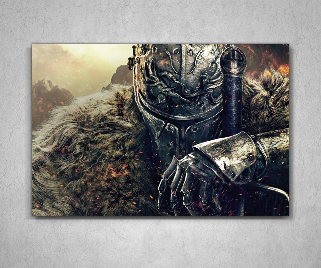 Картина подарок для геймера Дарк Соулс Dark Souls 60х40