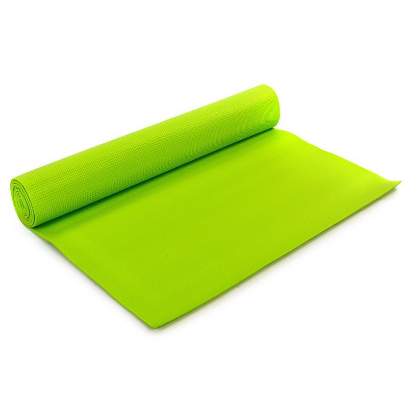 Килимок для фітнесу і йоги PVC 173смх61смх4мм. (САЛАТОВИЙ)
