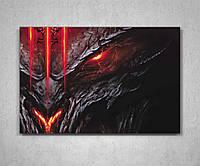 Оригинальный подарок для подростка картина с героем игры Диабло Diablo 60х40