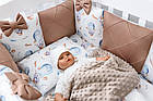 """Детская постель Asik из сатина """"Зайка на воздушном шаре"""" с бортиками на 4 стороны, № 385, фото 6"""