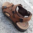Сандалии мужские кожаные р.41 светло-коричневые Nike, фото 3