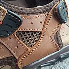 Сандалии мужские кожаные р.41 светло-коричневые Nike, фото 4