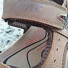 Сандалии мужские кожаные р.41 светло-коричневые Nike, фото 5