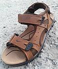 Сандалии мужские кожаные р.41 светло-коричневые Nike, фото 7