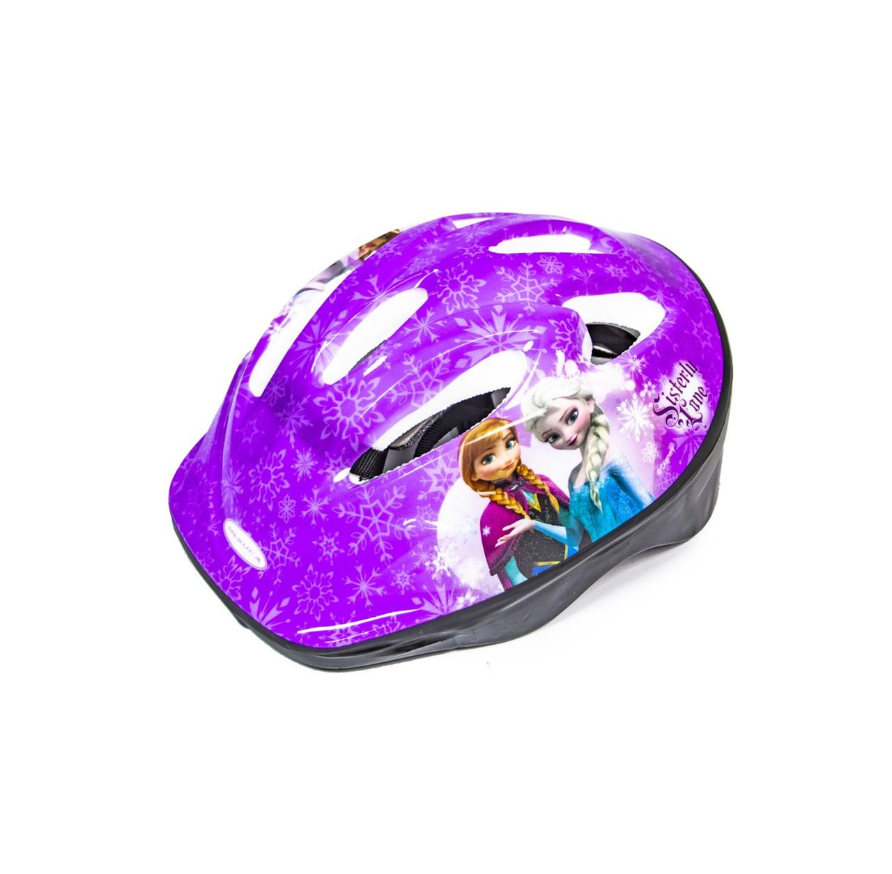 Шлем детский, для катания на роликах, скейте, велосипеде фиолетовый.Frozen.
