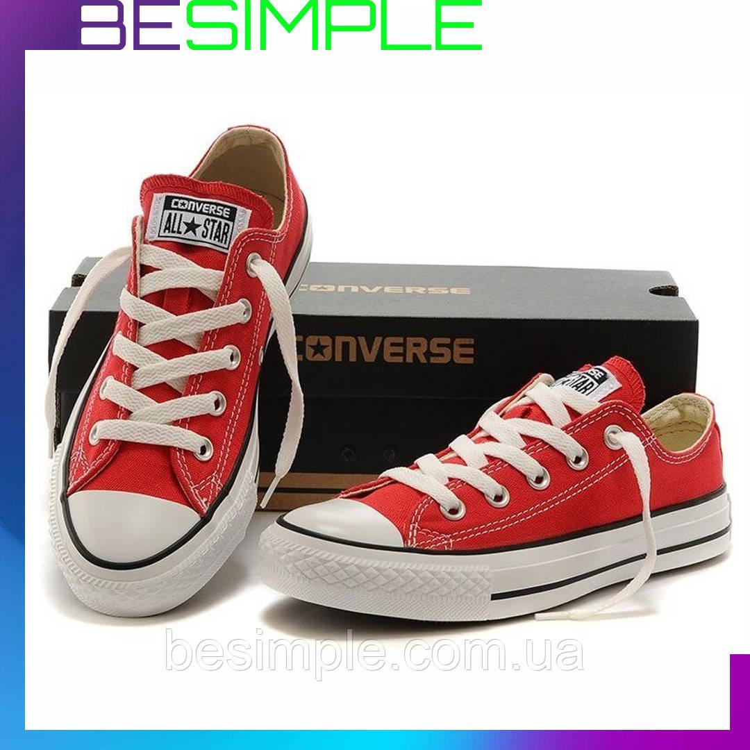 Кеды конверс низкие / Converse all star / Красные (36-37,40-41,43-46 )