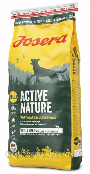 Корм Josera йозера Active Nature актив натюр 4,5 кг корм для взрослых активных собак