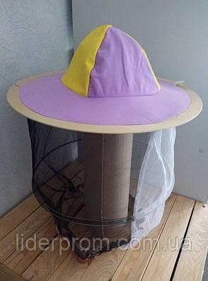 Маска-капелюх бджолярська захисна Лілово-жовтий колір Lyson (Польща), фото 2