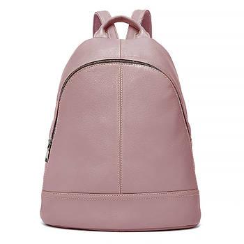 Жіночий шкіряний рюкзак міський. Модний рюкзак жіночий (рожевий)