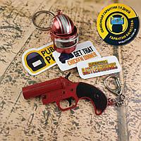 Набор уникальных металлических брелоков + виниловые наклейки из игры PUBG
