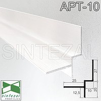 Алюминиевый профиль теневого шва 10х20 мм. Sintezal ATP-10 Белый (RAL-9016)
