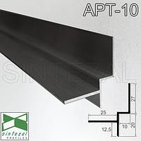 Алюминиевый профиль теневого шва 10х20 мм. Sintezal ATP-10 Чёрный (RAL-9005)