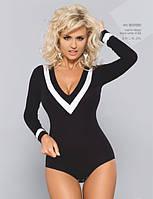 Женская блуза-боди черного цвета с длинным рукавом. Модель BDV 050 Gaia, коллекция осень-зима 2015-2016