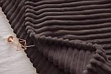 Плед/покрывало из микрофибры однотонное ТМ Tag цвет шоколадный, фото 3