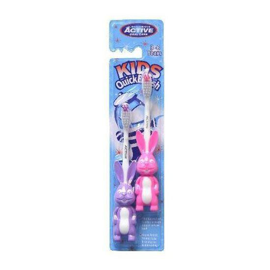Двойная 1+1зубная щетка Active Oral Care Kids QuickBrush от Beauty Formulas, для детей 3-6 лет