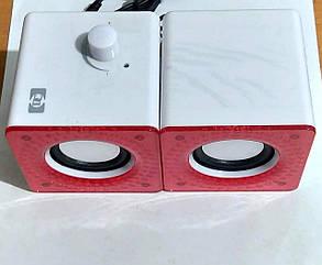 "Колонки USB ""DC-M10"" White&Red, фото 2"