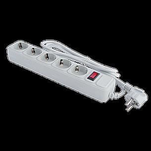 Сетевой фильтр LogicPower 5 розеток 1,8 м серый (LP-X5), фото 2