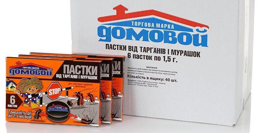 """Ловушка """"Домовой"""" для уничтожения тараканов, прусаков, муравьев 6 шт 1031791"""