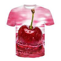 Футболка вишня, фрукты