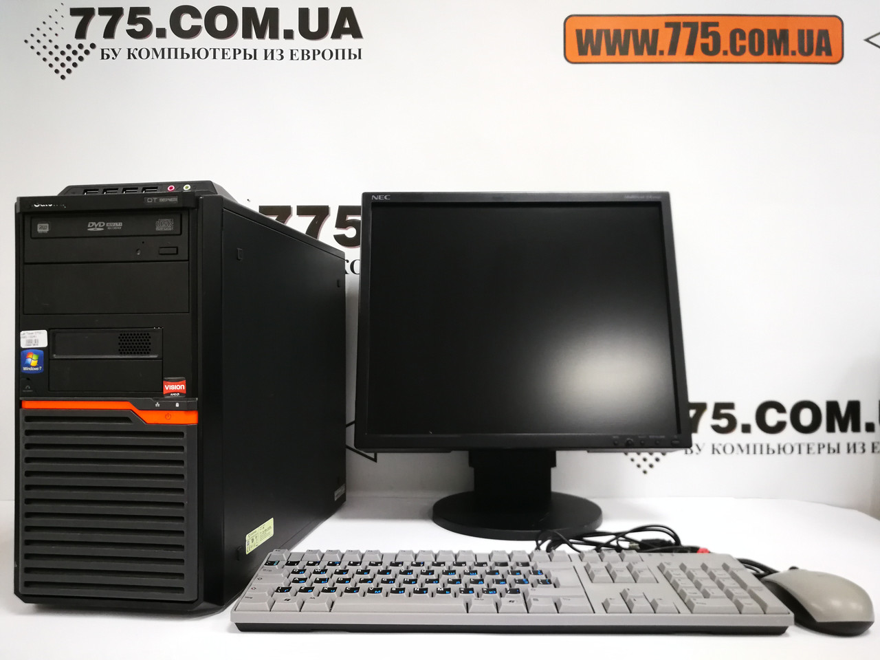 "Комплект: компьютер Athlon 3.1ГГц, Монитор 19"" (1280х1024, звук), клавиатура, мышь"