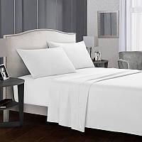 Комплект постельного белья Белоснежный белый (Семейный)