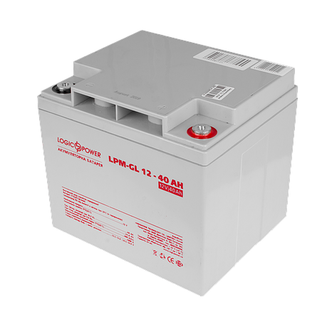 Аккумулятор гелевый LogicPower LPM-GL 12 - 40 AH, фото 2