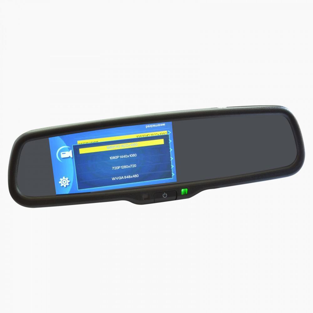 Зеркало заднего вида со встроенным Full HD видеорегистратором и возможностью подключения камеры Prime-X 050DW