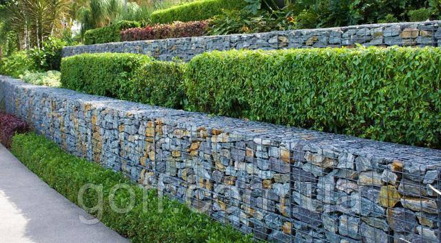 стена из габионов - стена из сварной сетки