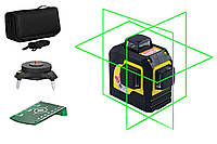 Уровень лазерный Fukuda 3D MW-93T NEW (яркий зеленый луч). супер цена