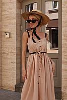 Платье женское летнее, цвета беж,малина,джинс
