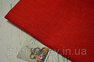 Тканина рівномірного плетіння Permin 076/30 Red, 28 каунт