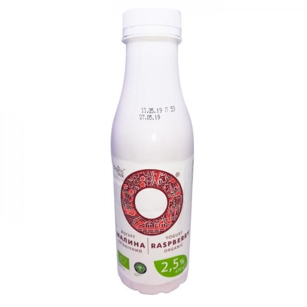 Йогурт органический Малина Organik Milk 2,5% 470г