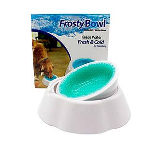 Охолоджуюча миска для води для домашніх тварин Frosty Bowl | Миска для собак з охолоджуючим гелем