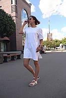 Платье-футболка женское белое бренд ТУР модель Сарина (Sarina) размер S, M, L