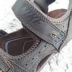 Сандалии мужские кожаные р.43 коричневые Nike, фото 4
