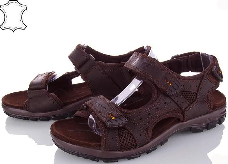Сандалии мужские кожаные р.44 коричневые Nike