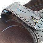 Сандалии мужские кожаные р.44 коричневые Nike, фото 3