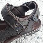 Сандалии мужские кожаные р.44 коричневые Nike, фото 5