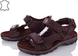 Сандалии мужские кожаные р.45 коричневые Nike
