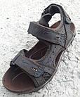 Сандалии мужские кожаные р.45 коричневые Nike, фото 2