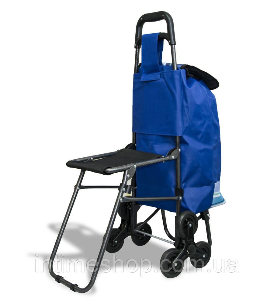 "Ручна господарська тачка на коліщатках | Колір №7, вісь на трьох колесах | ""Кравчучка"" з сумкою"