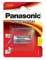 Літієва батарейка Panasonic Lithium Power CR123AL/1BP блістер 1 шт.