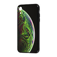 """Чехол для iPhone Xr My style """"планета"""" зеленый"""